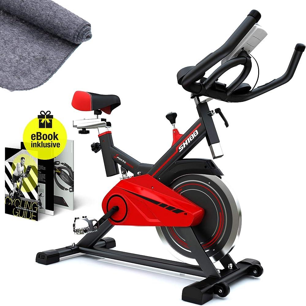 Sportstech, cyclette professionale, bici-hometrainer con eventi video & app multiutente sp_sx100_uk