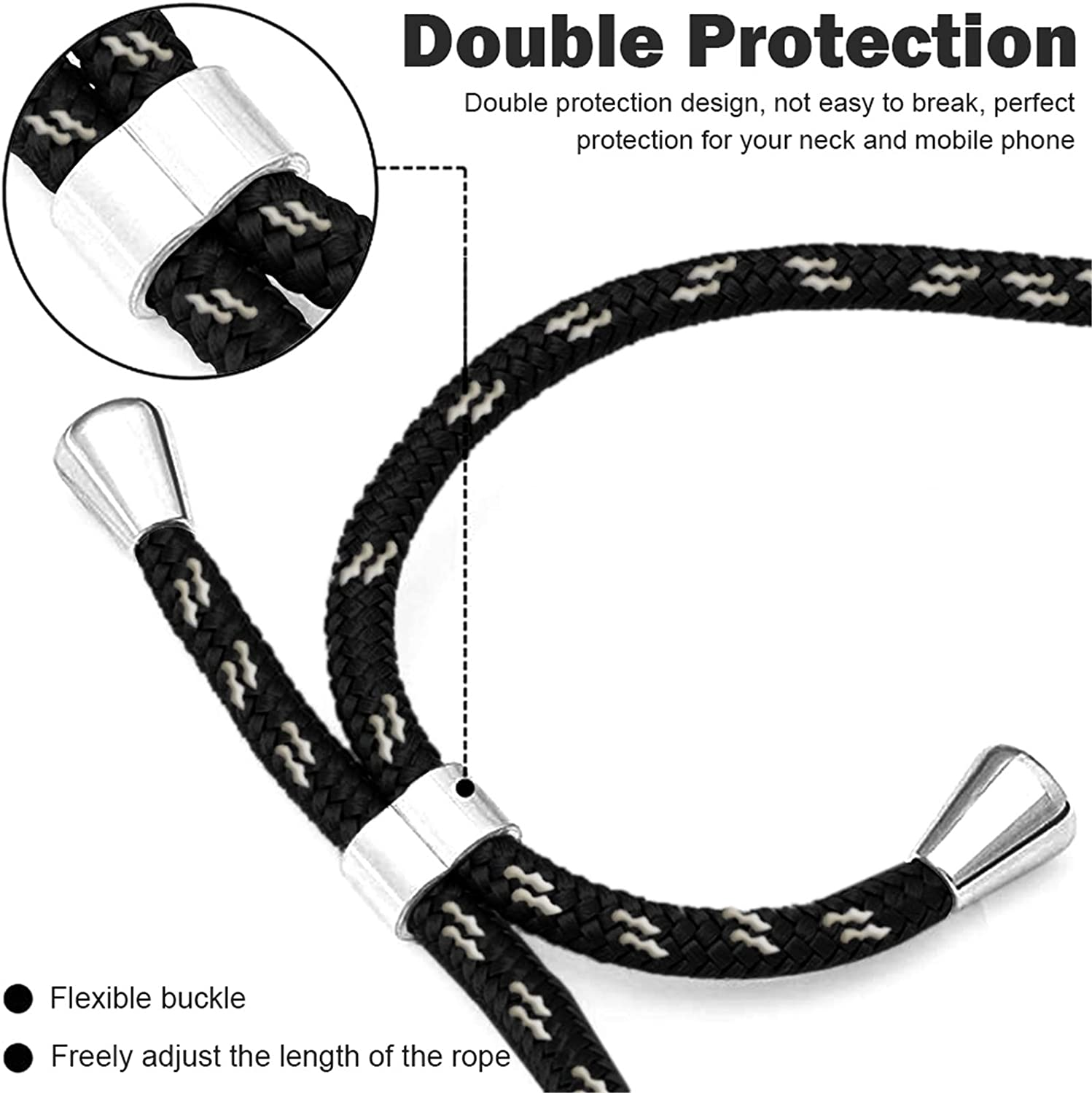 for Samsung Galaxy S21 Case Clear Lanyard Crossbody Full Body Slim Case for Samsung S21 Phone Case Full Body Transparent TPU Shockproof Cover Compatible with Samsung S21 5G Case for 6.2