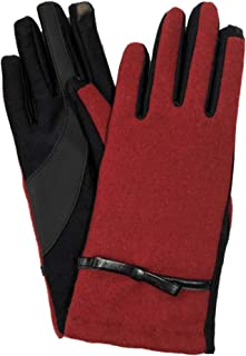 Isotoner Signature Women/'s Gloves Red Cable Knit SmarTouch Casual Warm $36