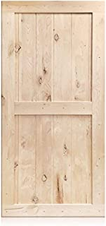 Sliding Barn Door Wood Panel Slab, 42in x 84in Classic Design with Frame