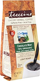 Teeccino Chicory Coffee Alternative – Chocolate Mint – Ground Herbal Coffee That's Prebiotic, Caffeine Free & Acid Free, L...