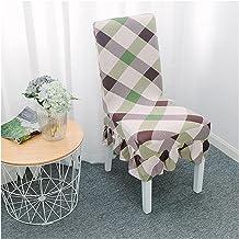 غطاء كرسي سبانديكس كرسي غطاء تمتد الجاكار الأغلفة القابلة للإزالة أغطية كرسي قابل للغسل للمطبخ، فندق، مطعم، 4 حزمة غرفة ال...