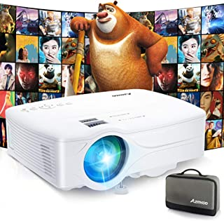 プロジェクター 5200lm 小型 AZMKOO WiFiでスマホに直接接続 交換アダプター不要 1920×1080最大解像度 ホームシアター TV Stick/HDMI/DVDプレイヤー/iPhone/ゲーム機に接続可能 リモコン付き