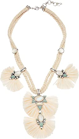 Raffia Statement Collar Necklace