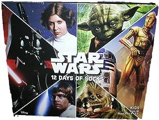 Star Wars Lucas Film 12 Days of Socks Casual Socks - Stocking Stuffers (M (9-2.5))