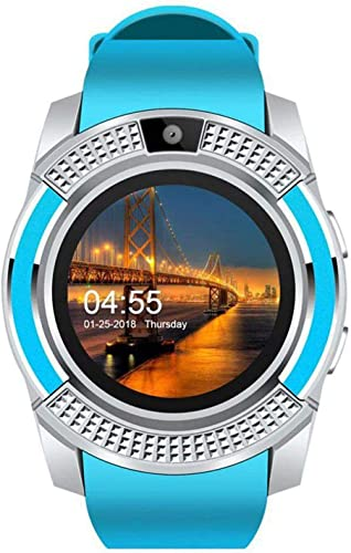 Niyati Bluetooth V8 4G and SIM Card Support Smart Wrist Watch with Monitoring Display Camera and Pedometer Health Features for All Android and iOS Devices for Boys and Girls
