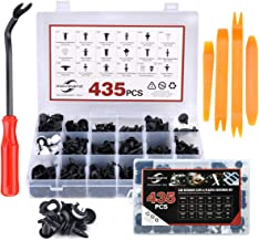 moveland 19 Most Complete Sizes Car Retainer Clips & Plastic Fasteners Kit- 435 PCS, Auto Push Pin Rivets Set for GM Ford Toyota Honda Chrysler Nissan