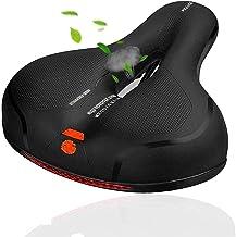 MSDADA Comfortabele Bike Seat-Padded Soft Bike Seat Cushion Memory Foam Waterdicht Wide Bike Zadel met Dual Shock Absorbin...