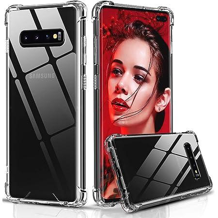 LeYi Funda Samsung Galaxy S10 Plus,Transparente Shockproof Carcasa Hard Silicone PC y Ultra Slim Bumper TPU Antigolpes Case para Samsung Galaxy S10 Plus,Clear