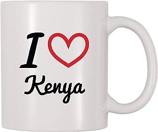 4 All Times I Love Kenya Personalized Name Coffee Mug (11 oz)