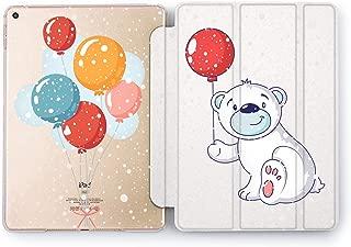 Wonder Wild Bear Gift iPad Pro Case 9.7 11 inch Mini 1 2 3 4 Air 2 10.5 12.9 2018 2017 Design 5th 6th Gen Clear Smart Hard Cover Animals Winter Balloon Cute Kids Polar Bow Smile Snowing Snowflakes