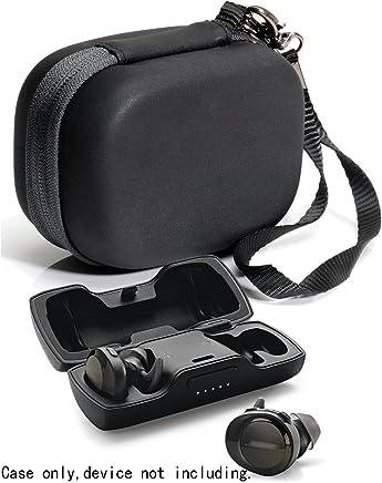 Funda protectora para auriculares Bose SoundSport Truly Wireless Sport Charger Box, bolsillo de malla para cable y otros accesorios