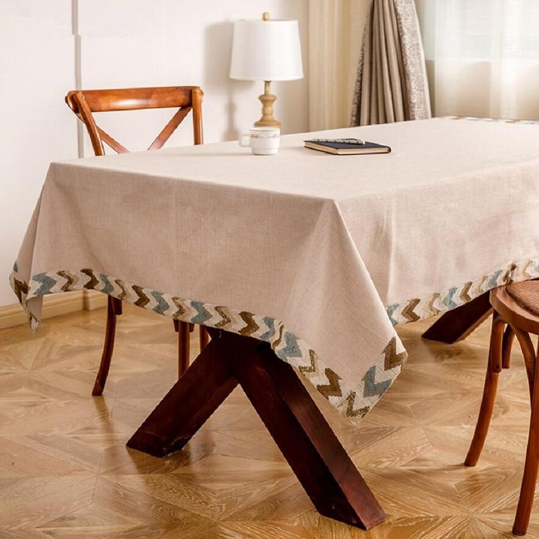 ZXY Nappe de style simple en style européen, nappe de couleur unie, matériau en polyester pratique imperméable à l'eau, table basse, bureau, table de nappe rectangulaire,A,140180cm