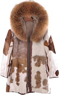 2019 Real Natural Sheepskin Coat with Down Filling and Big Raccoon Fur Hooded Loose Style Middle-Length Women Winter Coat