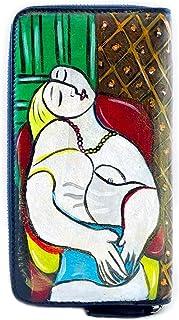 Portafoglio in pelle dipinta a mano - IL SOGNO DI PICASSO - Portafogli Donna, Vera Pelle, Made in Italy, in Pelle Dipinta,...