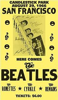 "Here Comes The Beatles - San Francisco - Candlestick Park 13""x22"" Vintage Style Showprint Poster - Concert Bill - Home Nostalgia Decor Wall Art Print"