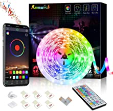 Romwish LED Strip Lights 16.4ft/5M, Bluetooth 5050 RGB Color Changing LED Lights, Music Sync Dance, 44 Keys Remote Control...