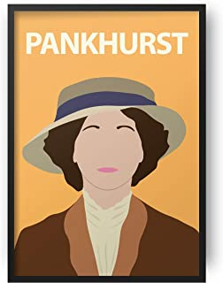 Emmeline Pankhurst Poster // Print - Artwork - Stampa - Minimalista - Colorata - Ispiratrice - Motivazionale - Aula - Deco...