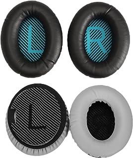 Replacement Ear Pads Cushions for Bose QuietComfort 35 QC35 I II Headphones (Black)