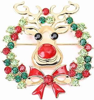 BBGSFDC Broche de Navidad 9pcs Pin El Sistema cristalino de Diamantes de imitación Linda Broche de joyería de Las Mujeres ...