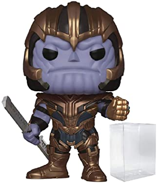 Marvel: Avengers Endgame - Thanos Funko Pop! Vinyl Figure (Includes Compatible Pop Box Protector Case)