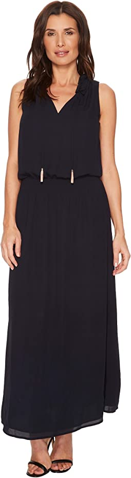 Ivanka Trump - Woven Georgette Ruffle Collar Maxi Dress
