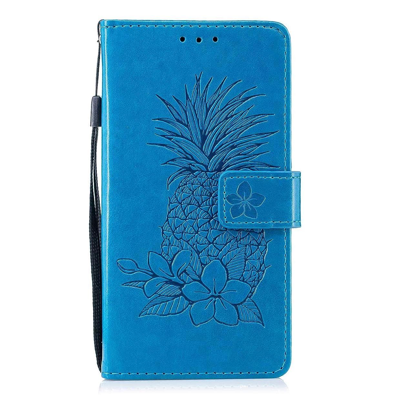 ランクうそつきジャグリングCUSKING Huawei P8 Lite 2015 / 2016 対応 スマホ ケース, 高級 PUレザー 手帳ケース, Huawei P8 Lite 2015 / 2016 衝撃吸収 保護ケース 財布型 ケース スタンド機能 カード ポケット付き, ブルー