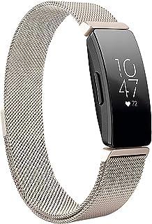 Jennyfly Inspire 2 Bracelet en métal pour homme réglable 17 à 20,6 cm Bracelet en acier inoxydable Compatible avec Fitbit ...