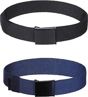 Boys Kids Cotton Canvas Belts - 2Pcs Adjustable Canvas...