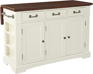 INSPIRED by Bassett Country Kitchen Island, Distressed White
