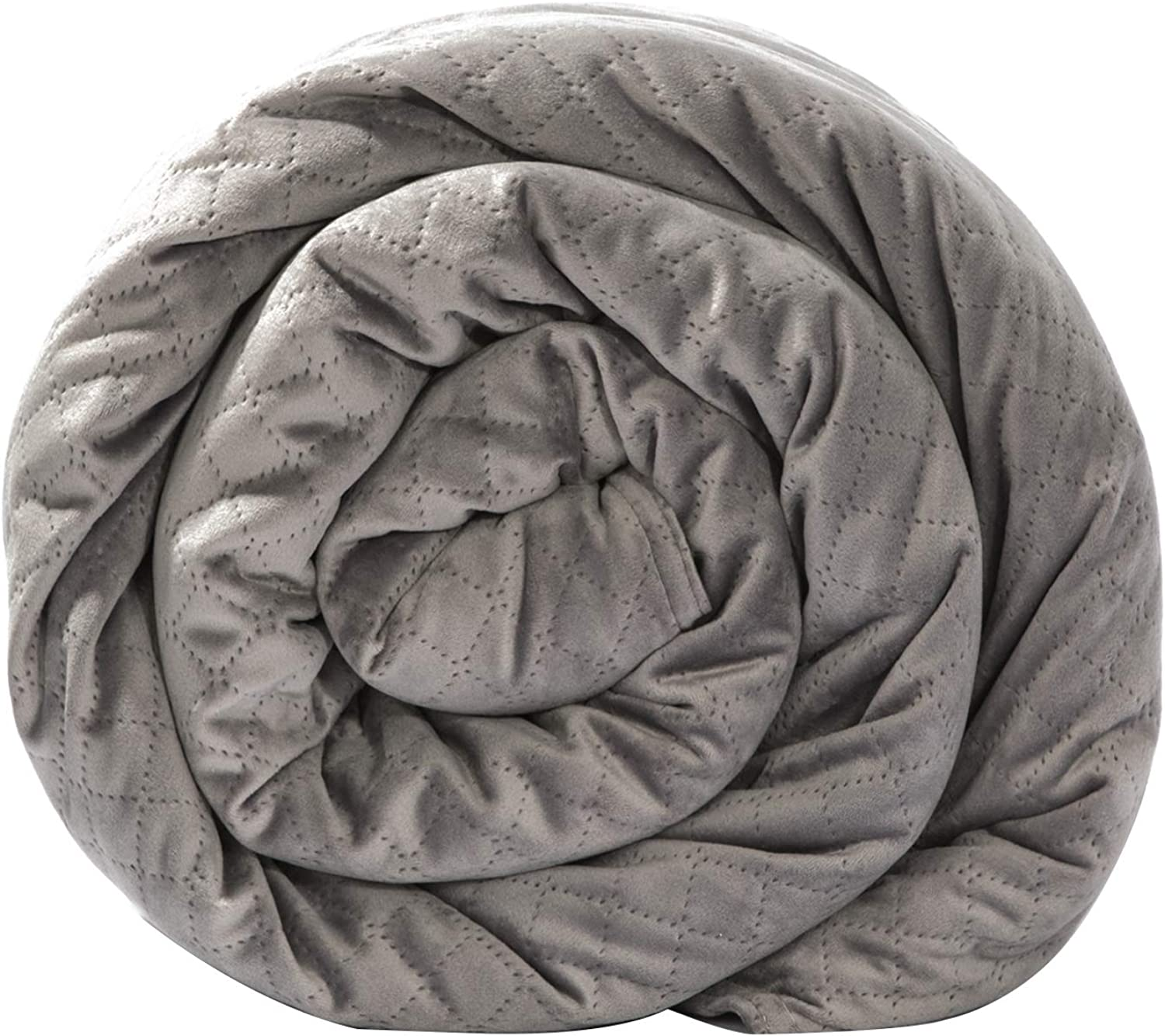 BlanQuil Quilted Weighted Blanket (Grey 20lb) W Removable Cover.