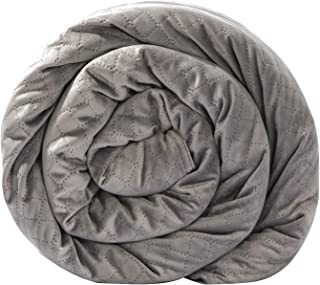BlanQuil Quilted Weighted Blanket W/Removable Cover (Grey 20lb)