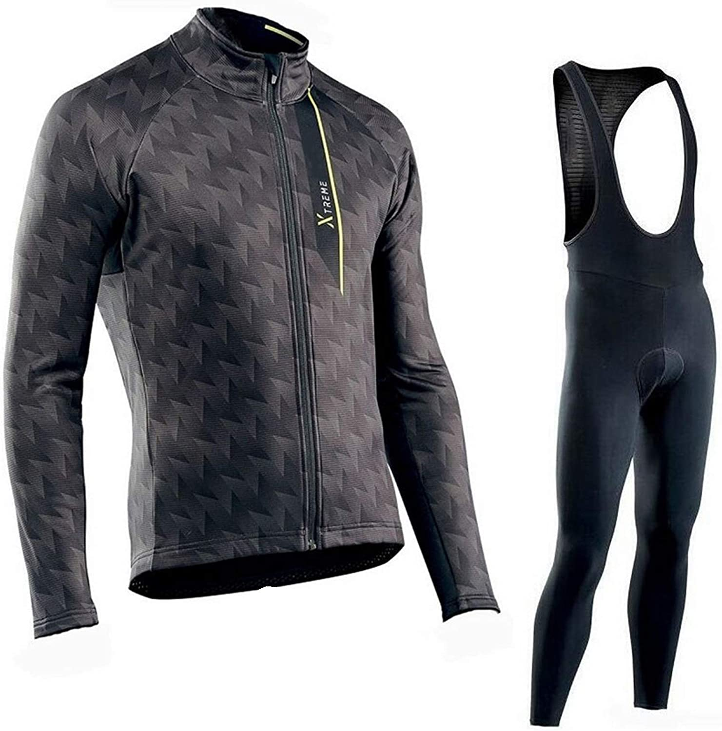 Qi Peng Winter Thermal Great excellence interest Fleece Cycling Men's Set Sle Long Jersey