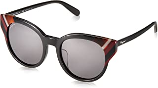 نظارات شمسية من سالفاتور فيراغامو SF 883 SA 001 نقش أسود/رمادي داكن