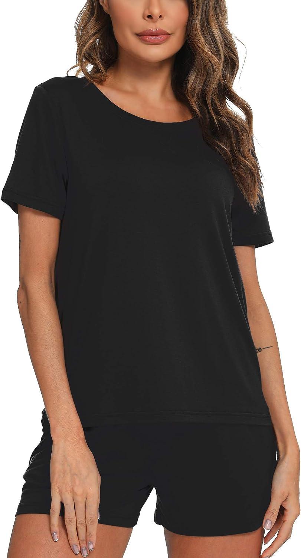 Hefunige Women Sleepwear Pajamas Set Shorts Super intense SALE Large-scale sale Short Pj with Sleeve