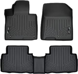 MAXLINER Custom Fit Floor Mats 2 Row Liner Set Black for 2019 Hyundai Santa Fe 5 Passenger Models