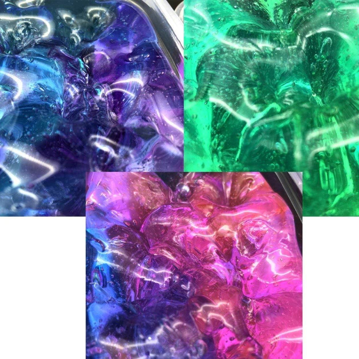 Kongqiabona-UK Magic Crystal Slime Mud 60ML Clay Slime DIY Crystal Mud Play Transparente Magic Kid Toys Ni/ños Creatividad Imaginaci/ón Juguetes educativos