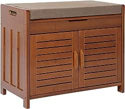 Shoe rack & Shoe Bench & Shoe Cabinet & Detachable Cushion with Hidden storage compartment
