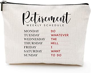 Funny Retirement Gifts for Women,Mom Boss-Retirement Weekly Schedule-Do Whatever the Hell I Want to Do- Retirement women m...