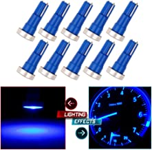 cciyu T5 Instrument Light Blue High Power LED Car Wedge 74 Gauge Cluser Light Speedo Dashboard Dash Side Light Bulb Lamp