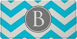 Personalized Monogram Baby Light Blue Chevron Checkbook Cover