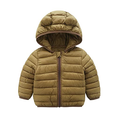 627056145 CECORC Winter Coats for Kids with Hoods (Padded) Light Puffer Jacket for  Baby Boys