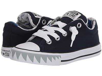 Converse Kids Chuck Taylor(r) All Star(r) Street Shark Bite Slip-On (Little Kid/Big Kid) (Obsidian/Photon Dust/White) Boy