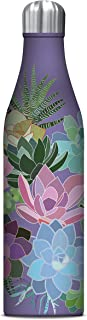 Studio Oh! 25 oz. Insulated Stainless Steel Water Bottle Available in 10 Different Designs, Mia Charro Succulent Paradise Lavender
