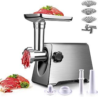 BenRich 2800 watts hachoir à viande électrique remplisseur de saucisse fabricant de poussoir en acier inoxydable puissant ...