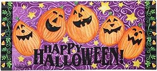 Evergreen Easy-to-Clean Happy Halloween Jack-o-Lantern Holiday Sassafras Mats