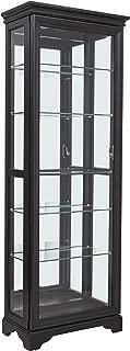 Pulaski Locking Sliding Door Curio Display Cabinet, 28.5