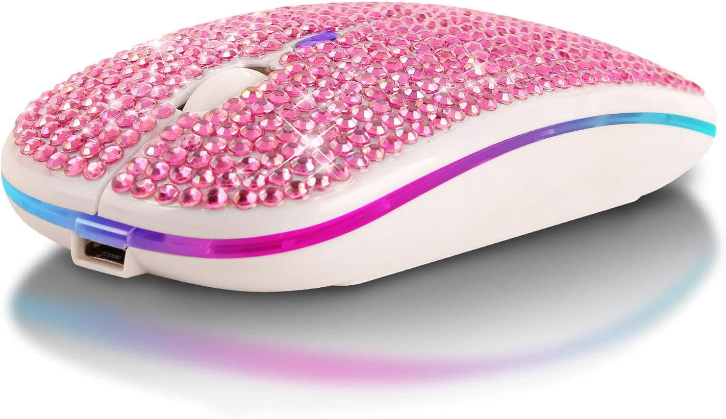 S-YUWEN Super special price Wireless Max 70% OFF Mouse Slim Portable Optical Mobile Rhinest Mice