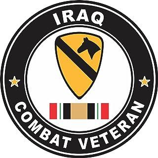 "Military Vet Shop US Army 1st Cavalry Division Iraq Combat Veteran Window Bumper Sticker Decal 3.8"""