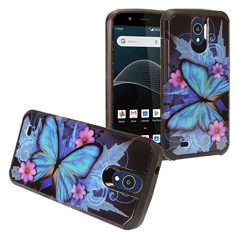 Eaglecell - Cricket Vision, AT&T Axia, ATT (QS5509A) - Hybrid Image Hard Case - Butterfly